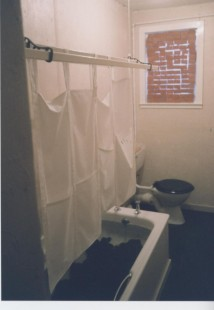Claire Barclay, Bathroom Installation, Castlemilk Womanhouse, 1990. Glasgow Women's Library collection. © Glasgow Women's Library (1 of 3)