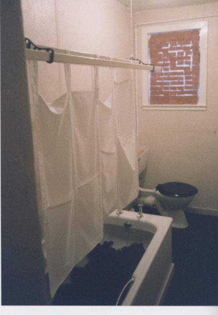 Claire Barclay, Bathroom Installation, Castlemilk Womanhouse, 1990. Glasgow Women's Library collection. © Glasgow Women's Library (1 of 3)