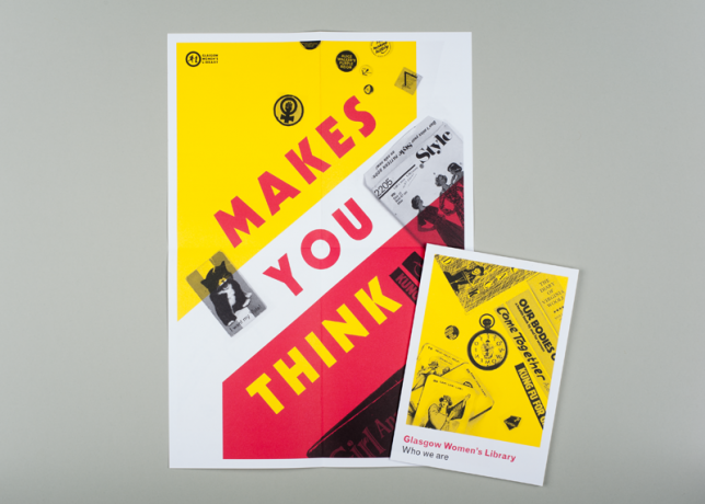 GWL Makes You Think publicity material designed by Maeve Redmond and Sophie Dyer