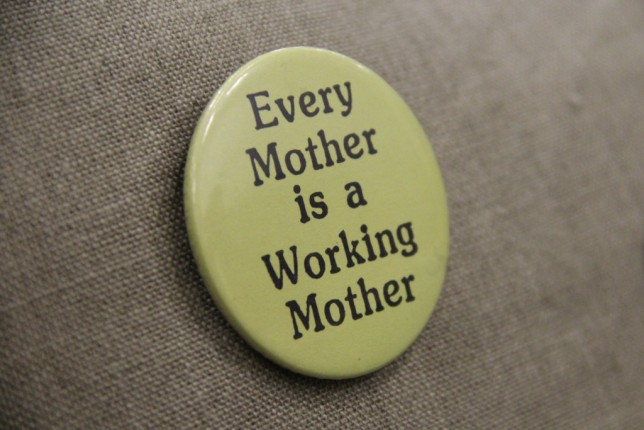 Every Mother is a Working Mother badge from the GWL Collection