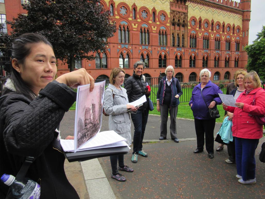 Photo of women on East End Women's Heritage Walk