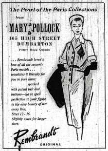 Mary Pollock Advert, May 5th 1951