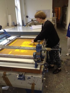 Helen de Main talks through printmaking