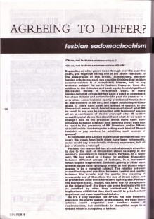 Spare Rib article on sadomachism, September 1986