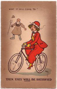 """What it will come to"" Anti-suffragette postcard"