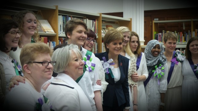 FM Nicola Sturgeon with GWL staff and volunteers