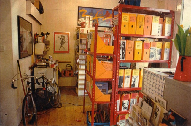 GWL interior, Garnethill, 1991, photo: Adele Patrick, GWL collection.