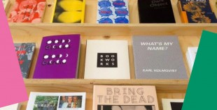 Photograph of book front covers by Book Works