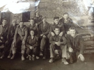 Morag's mother-in -law with the foundry welding team