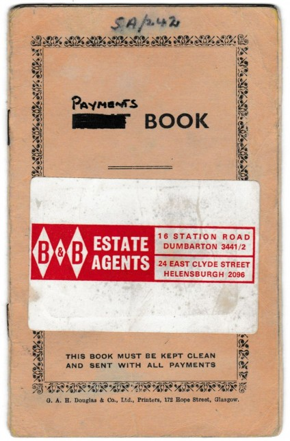 Mortgage Payment Book Front cover, 1969