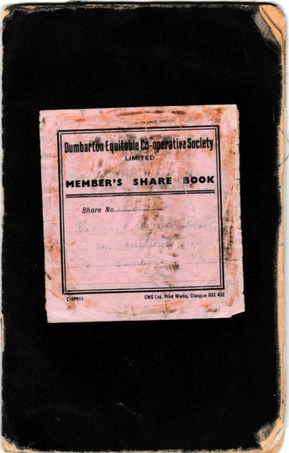 Co-operative members share book (front cover)