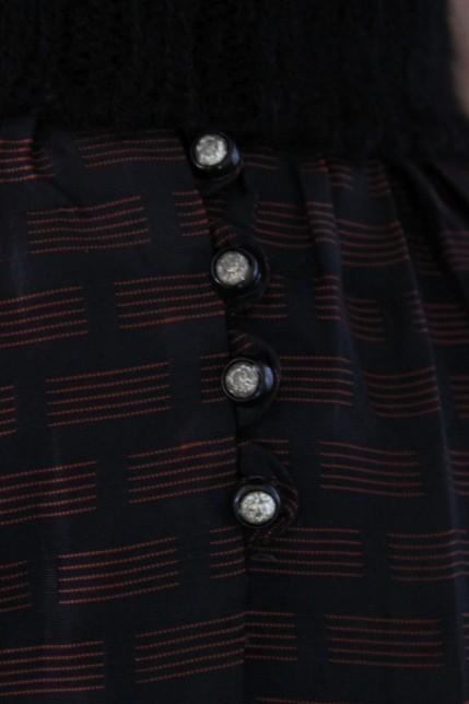 Diamante button detail of dirndl skirt