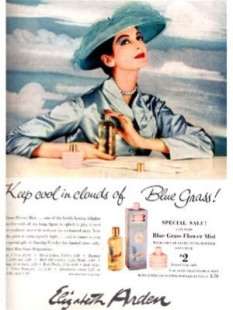 Elizabeth Arden Blue Grass Perfume Magazine Advert