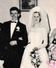 Nancy MacDonald and her husband on their wedding day