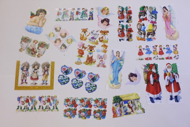 Scrapbooking samples, 1950s and 60s