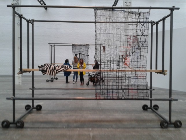 Seeing Things looking at Alexandra Bircken's work at Tramway, April 2016. Credit: Linda Woodburn