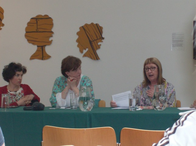 Alinah Azadeh, Jacquline Butler and Jennifer Harris during the Panel Discussion (Credit: Mary Alice)