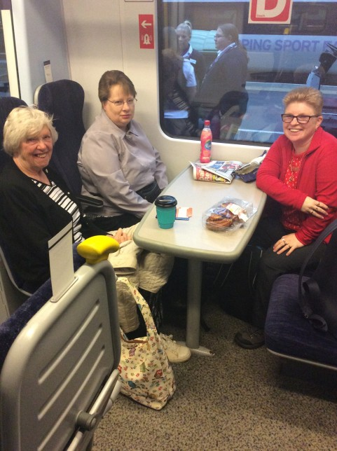 Feeling perky on the morning train (Credit: Alice)