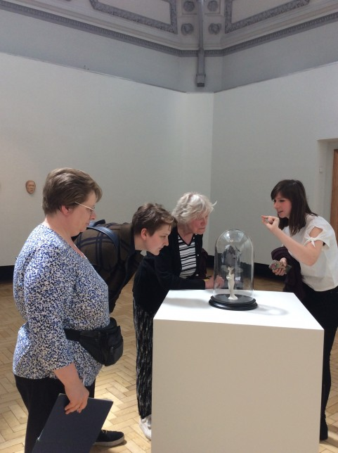 The group looking at Rachel Goodyear, a humming in the ears (Credit: Mary Alice)