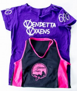 Shoetown Slayers & Vendetta Vixens Roller Derby team shirts