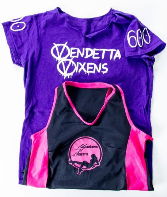 Shoetown Slayers & Vendetta Vixens Roller Derby team shirts