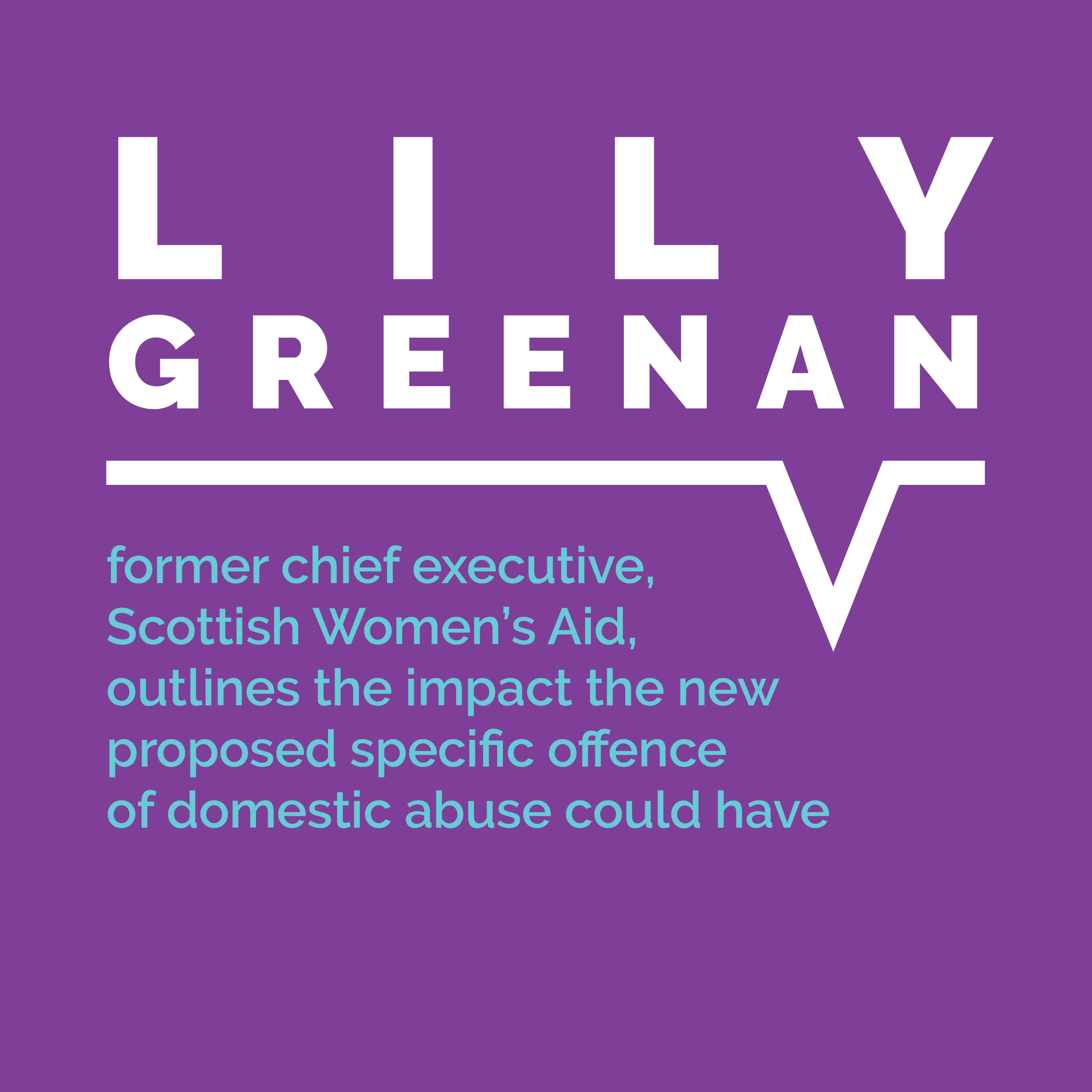 Lily Greenan, former chief executive, Scotish Women's Aid, outllines the impact the new proposed specific offence of domestic abuse could have