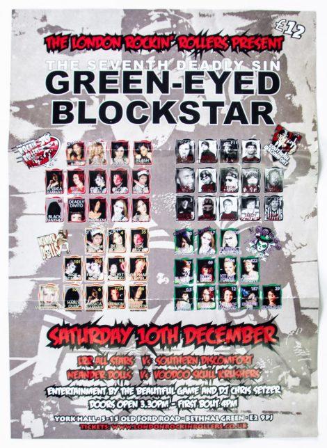 Green-Eyed Blockstar poster, 2011