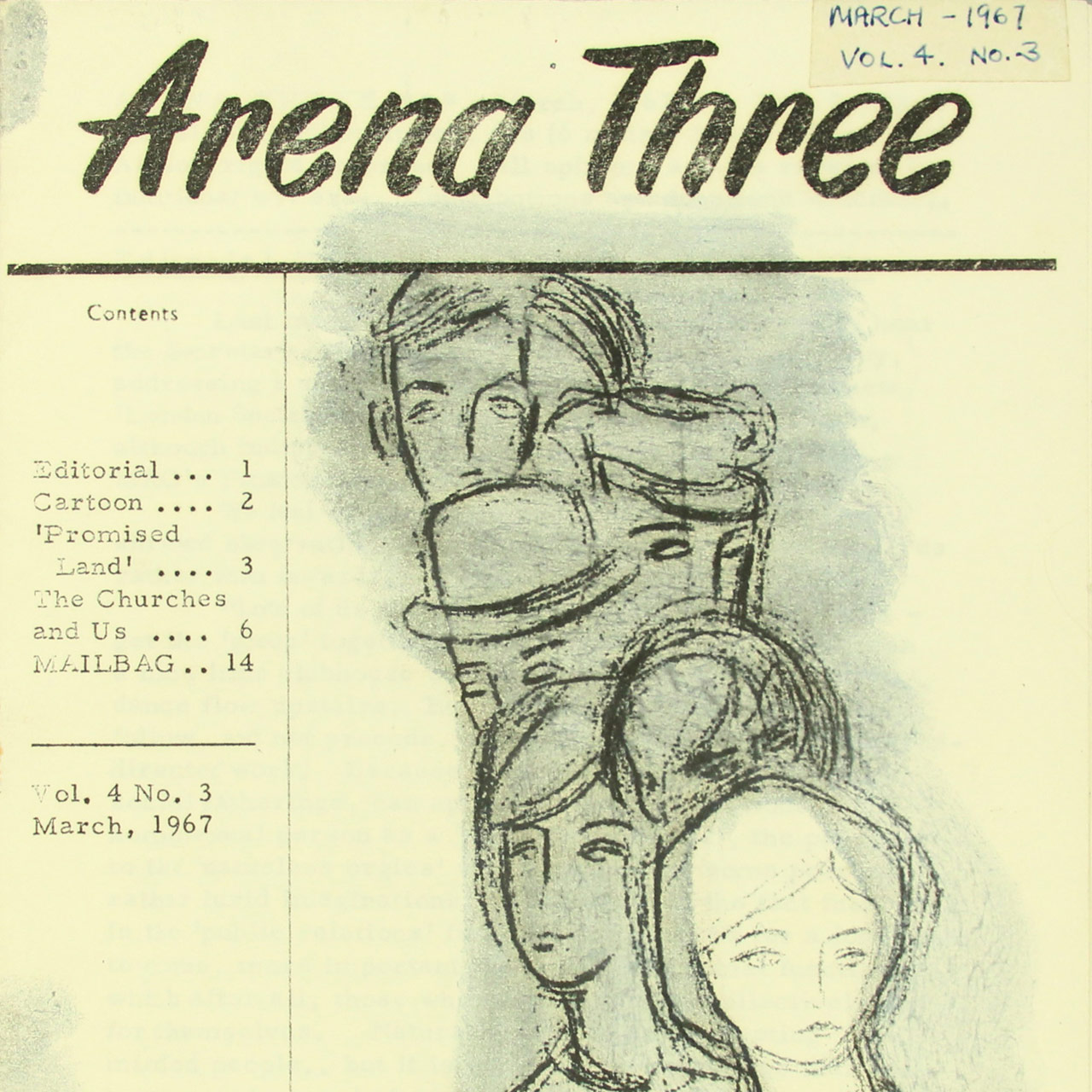 Arena Three, March 1967 cover detail