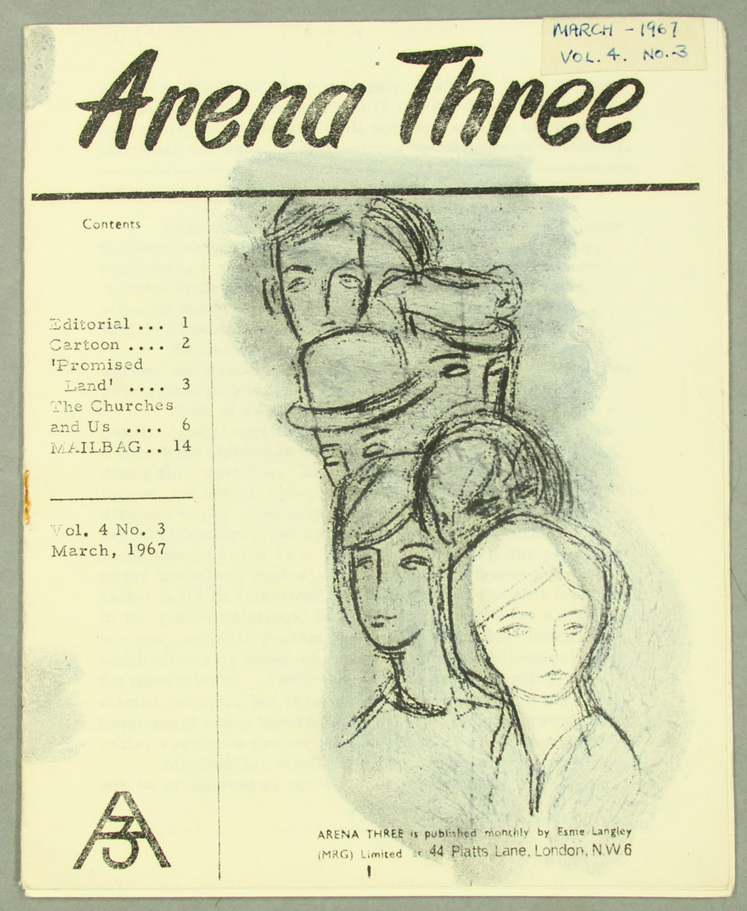 Arena 3, March 1967, Volume 4, Number 3