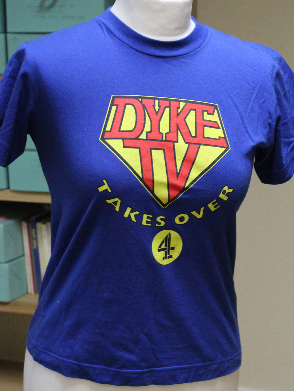 Dyke TV Takes Over Channel 4 T-shirt, designer unknown, c. 1995