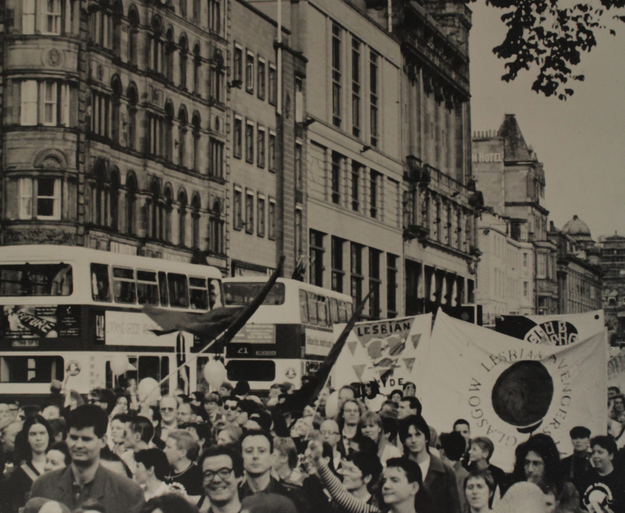 Pride March, Edinburgh, photograph by Sue John, 1995