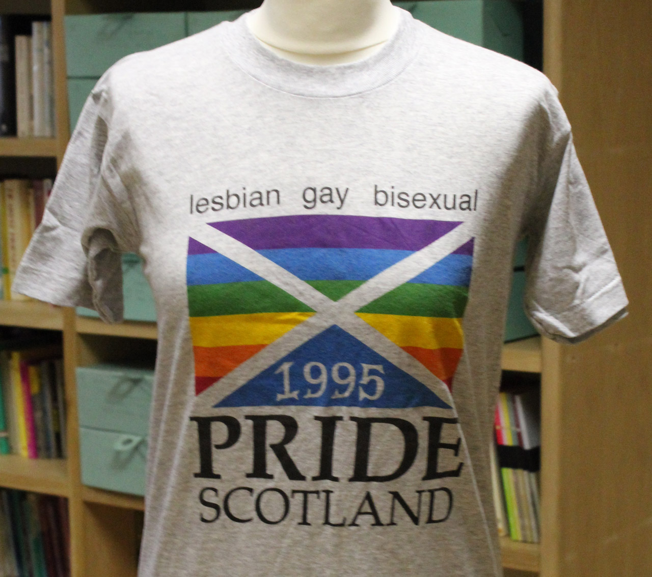 Pride Scotland T-shirt, unknown designer, 1995
