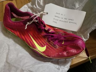 Eilish McColgan's running shoe