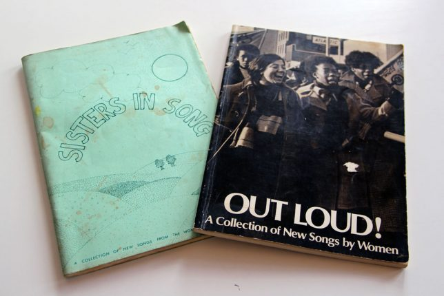 Song books from our collection, 'Out Loud!' and 'Sisters In Song' Credit: GWL