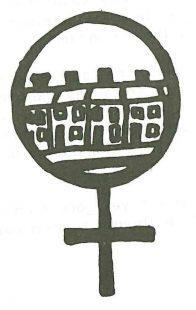 Woman Symbol Housing. Illustration, Scottish Women's Aid newsletter, Spring 1987, page 24.