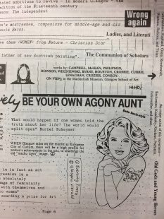 Be Your Own Agony Aunt, a feature in a magazine