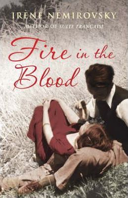 Fire in the Blood Book Cover, depicting a woman with her head on a man's knee and he is looking down at her