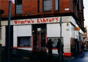 The library's first location in Garnethill, 1991