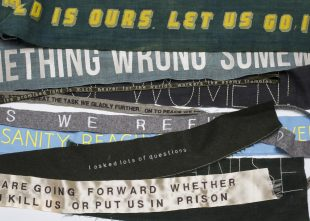 Banners with quotes by Helen Crawfurd