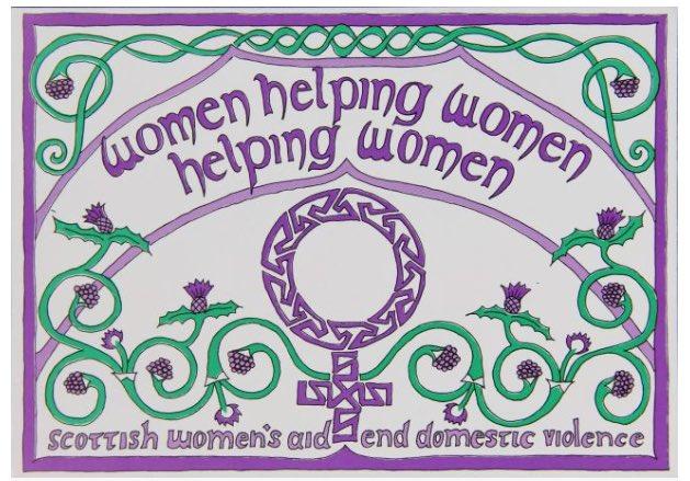 Scottish Women's Aid postcard