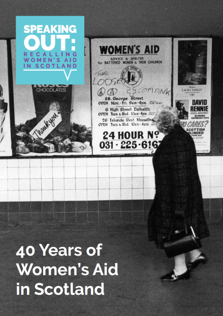 Speaking Out: 40 Years of Women's Aid in Scotland publication cover