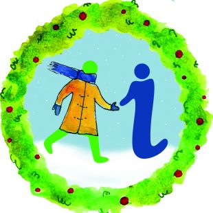 GWL's logo has a festive feel with snow, a wreath and the women symbol has a scarf and gloves.