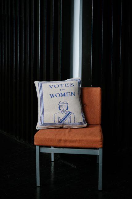 Donna Wilson's Book Cushion on a chair