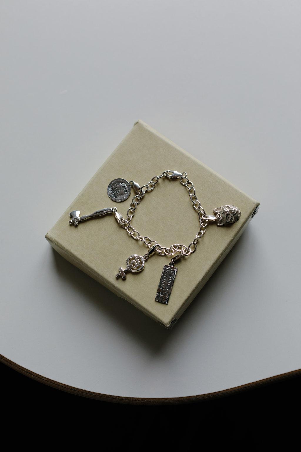 Feminist Charms bracelet