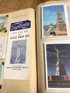 Pamphlets and Postcards from New York in Elaine Burton's Album