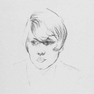 Sketch of Olive Fraser