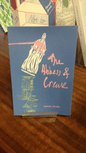 Image of the cover for The Abbess of Crewe, designed and printed by Sophie Rowan