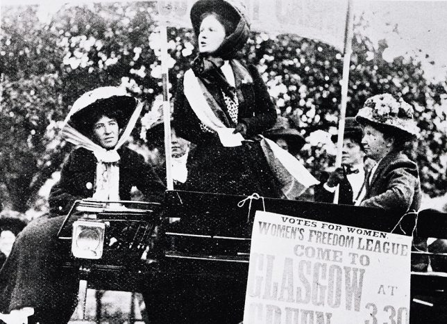 Women's Freedom League Demonstration, Glasgow Green, 1914 - courtesy of Glasgow City Council, Glasgow Museums