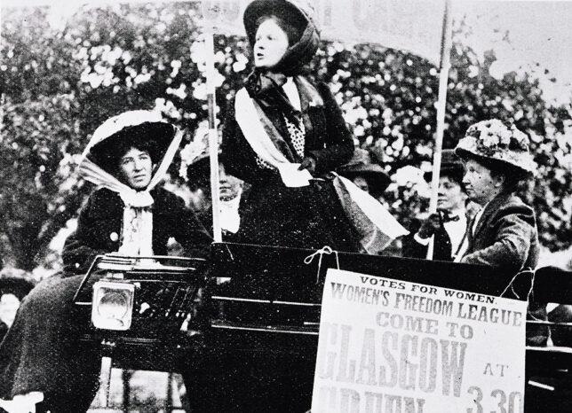 Women's Freedom League Demonstration, Glasgow Green, 1914 - courtesy of Glasgow City Council, Glasgow Museums