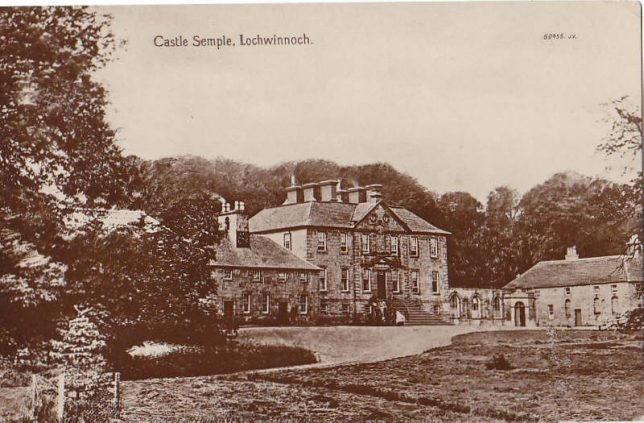 Image of Castle Semple House, where Kate Evans will have spent time in her childhood (Image courtesy of Paisley Online http://paisleyonline.co.uk/html/lochwinnoch_1.html)